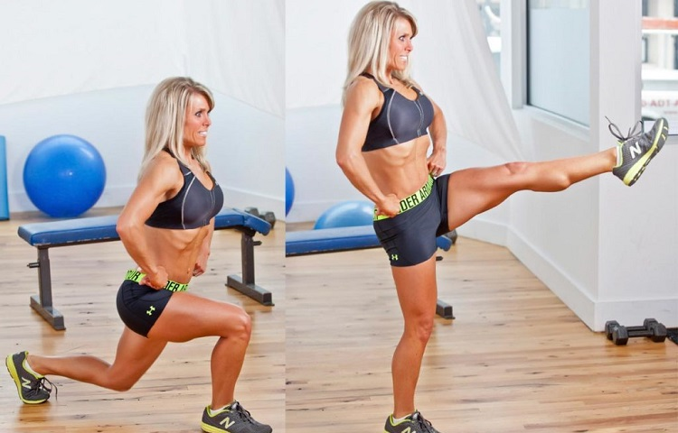 front kicks and lunges