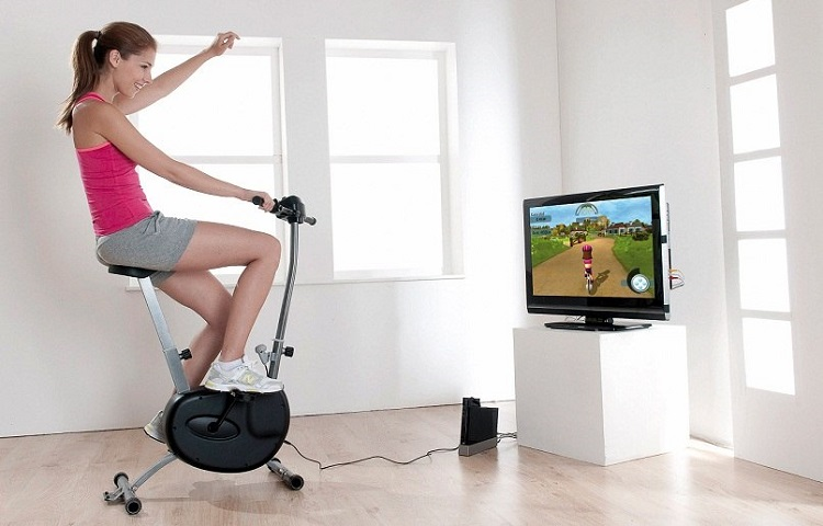 space amount for stationary bike