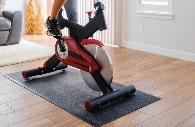 where to place spin bike