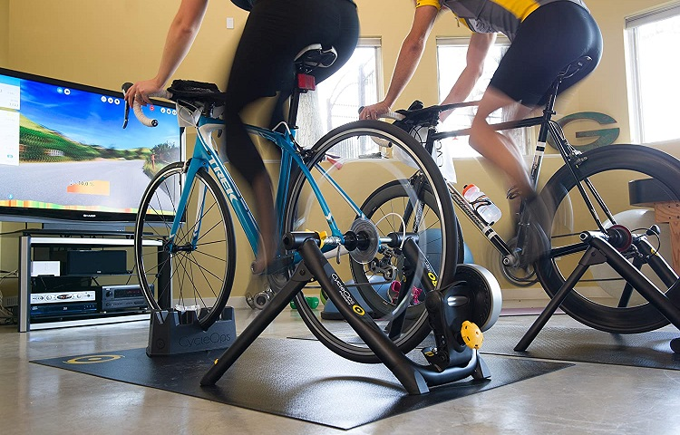 Can you leave bike on trainer?